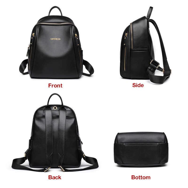 LAORENTOU marka kadın sırt çantası büyük kapasiteli bayan katı çanta okul çantası genç için büyük kapasiteli çok fonksiyonlu çanta