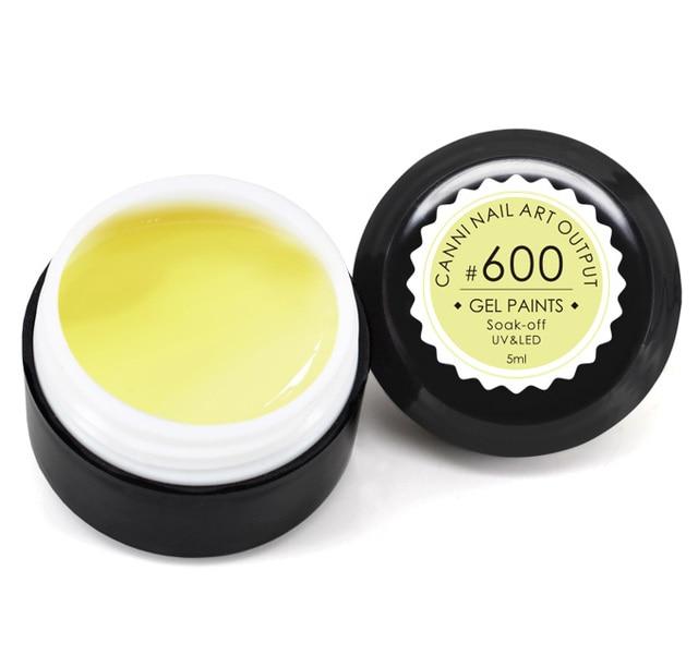 CANNI UV Gel Paints Color 551-600 Enamel 5ml 141 Pure Colors Varnish Venalisa Design Soak off Wrinkle UV LED Nail Painting Gel
