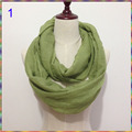 Fashion Plain Solid Color Scarves Circle Loop Women Infinity Scarf luxury brand Snood For Ladies Shawl designer Cheap Scarfs