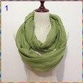 Moda Llanura de Color Sólido Círculo Loop Bufandas Mujeres Infinito Bufanda Redecilla de la marca de lujo Para Las Señoras Mantón diseñador Barato Bufandas