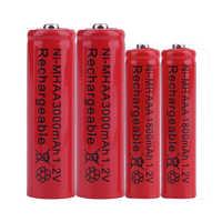 GTF 1,2 V 3000 mAh AA batterie Oder 1800 mAh AAA 1,2 V Ni-Mh akku für Spielzeug fernbedienung akkus