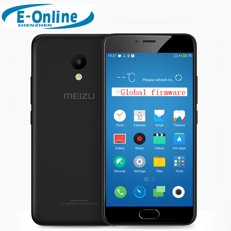 "Original Meizu M5 4G LTE Cell Phone 2.5D Glass MT6750 Octa Core 5.2"" 2GB RAM 16GB ROM 13MP 4G LTE Fingerprint"