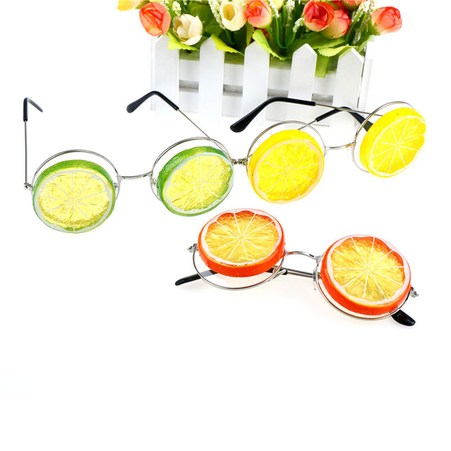 US $2 9 16% OFF|Miami Style Costumes Photobooth Props Event Party Supplies  Decoration Glitter Beach Glasses Funny Lemon Tropical Beach Party-in Party