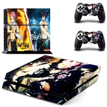 Anime Fairy Tail PS4 Skin Sticker Decal Vinyl for Sony Playstation 4 Console and 2 Controllers PS4 Skin Sticker