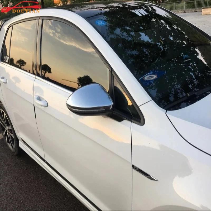 Accessoires de voiture Pour Vw Volkswagen Golf Mk7 7 2014-2017 Abs Chrome côté Porte Rétroviseur Cover Version Car Styling Autocollant 2 pcs
