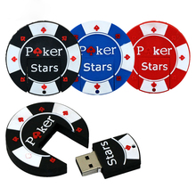 New Style Poker Stars USB Flash Drives External Memory Storage Pendrives 32GB 16GB 8GB 4GB pen drive Thumbdrive Usb Card Stick