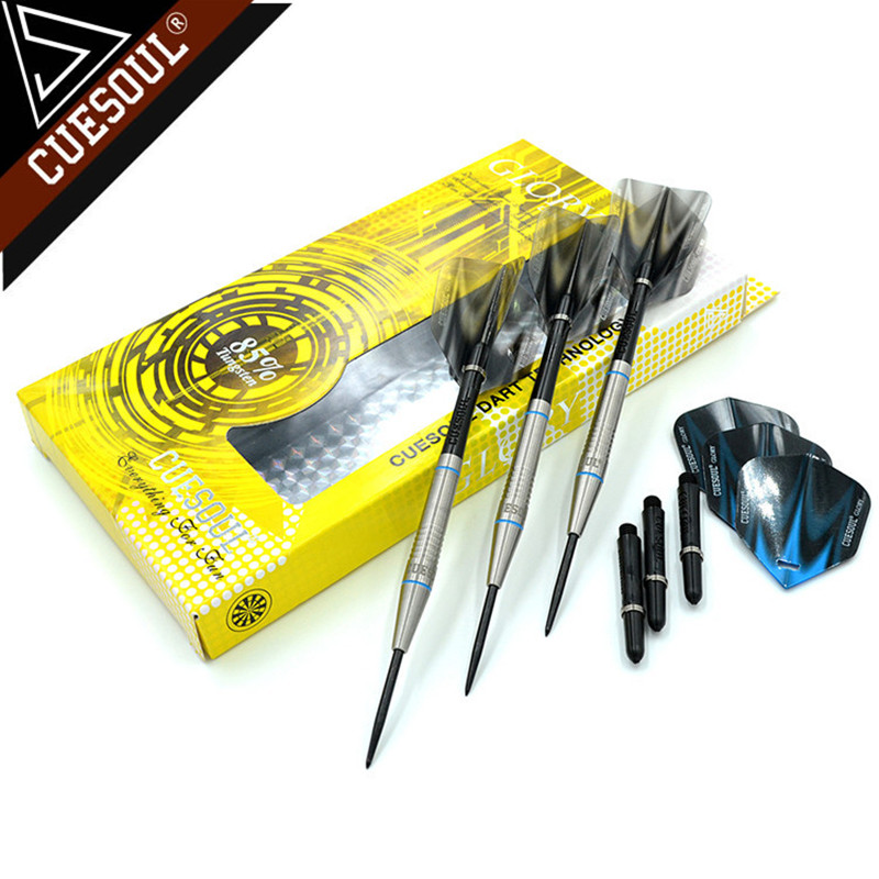 CUESOUL 24/26/28g Professional 85% Tungsten Steel Tip Darts 145mm With Nylon Shafts CSGL-N2208 cuesoul 24 26 28g professional 85% tungsten steel tip darts 145mm with nylon shafts csgl n2209