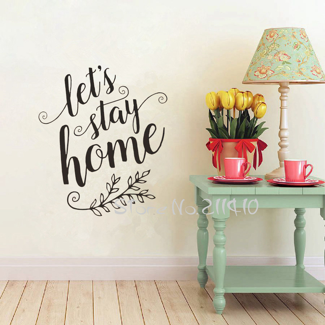 living room realtors warm and cozy ideas lets stay home wall decals quotes removable vinyl sticker decor houses rules art mural a705