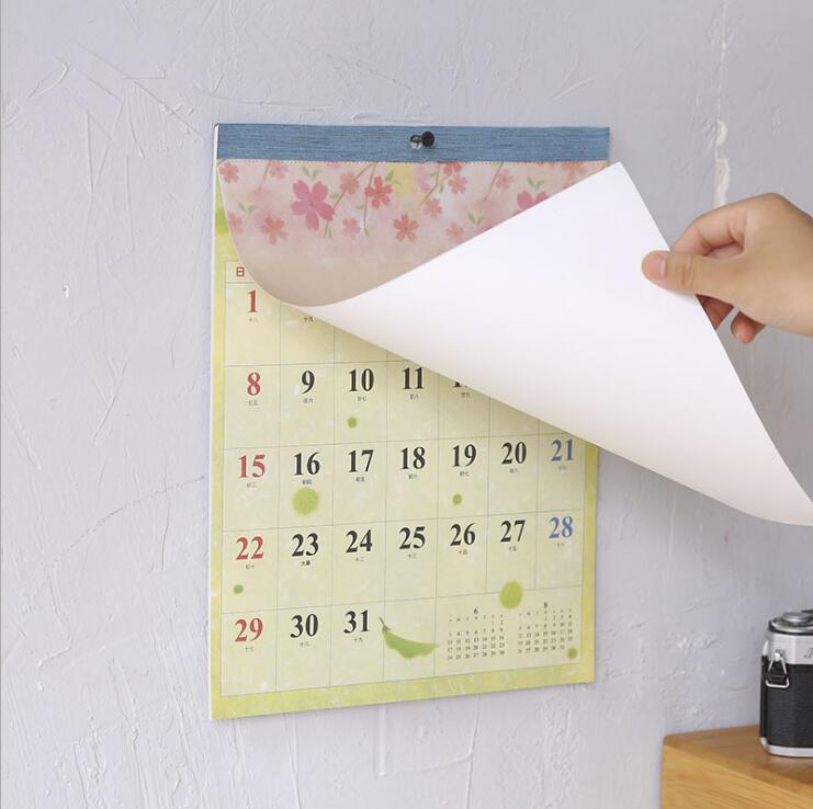 New 2019 Creative sakura pigeon wall calendar Planner Agenda Organizer weekly to do list Daily Table Planner 2018.07~2019.12 2019 table calendar weekly planner monthly plan to do list desk calendar daily rainlendar simple style desktop calendar