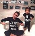 Primavera Carta combinando roupas da família T-shirt Da Família Roupas Combinando Olhar Família mãe e filha roupas de Algodão de Manga Longa