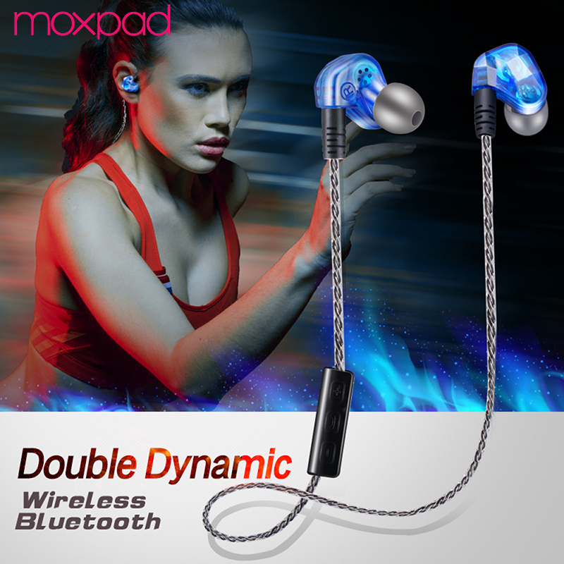 MOXPAD Sport In-Ear Auriculares Bluetooth Earphones For Your Ear Bud Phone Headset Cordless Wireless Headphone Earpiece Earbuds moxpad stereo headphone headset in ear earphone for your in ear phone bud iphone player computer smartphone mic earbud earpiece
