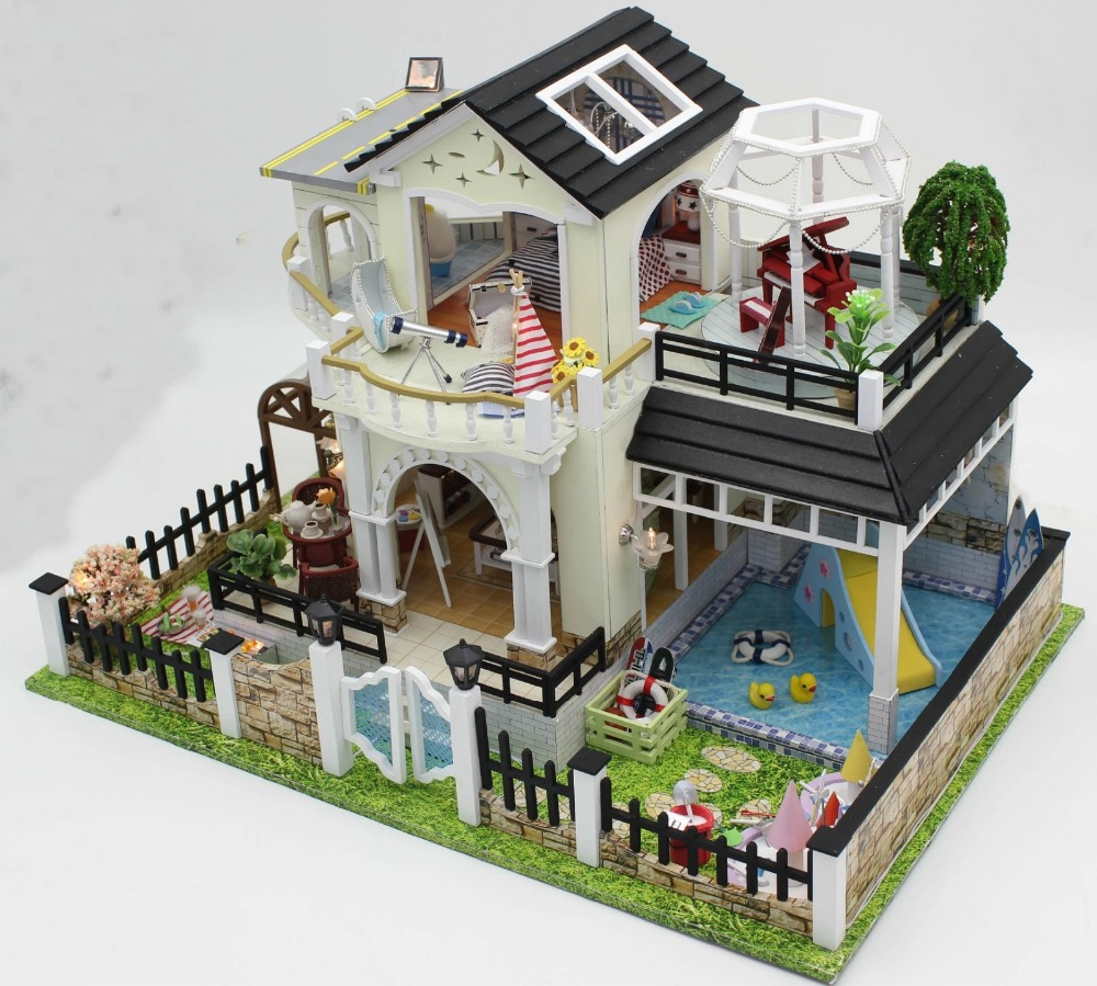 Superb Perfect Hour Large DIY Wood Doll House Euro Style 3D Miniature  Lights+Furnitures Building Model Homeu0026Store Decoration Adult Toy In Doll  Houses From Toys ...