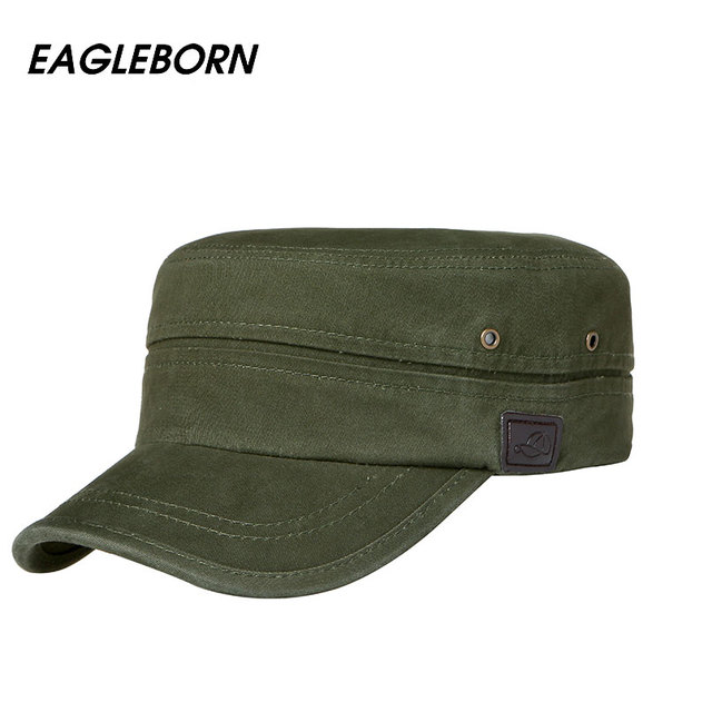 ... Men Women Flat Top Cap 100% Cotton Tactical cap Military Hats Classic  Solid Color from Reliable military hat suppliers on EAGLEBORN Official Store 129ee4562f3