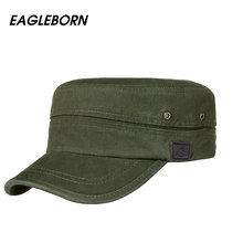 7339261675f Brand EAGLEBRN 2019 Cotton Unisex Men Women Flat Top Cap 100% Cotton  Tactical cap Military. 4 Colors Available