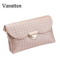 Famous Brands Knitting Women Clutches Casual Female Clutch Bags Versatile Women Messenger Bags Mini Cross Body