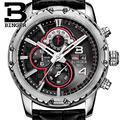 Suiza BINGER relojes hombres marca de lujo de Pulsera de cuarzo reloj multifuncional militar Cronómetro glowwatch B6011-4