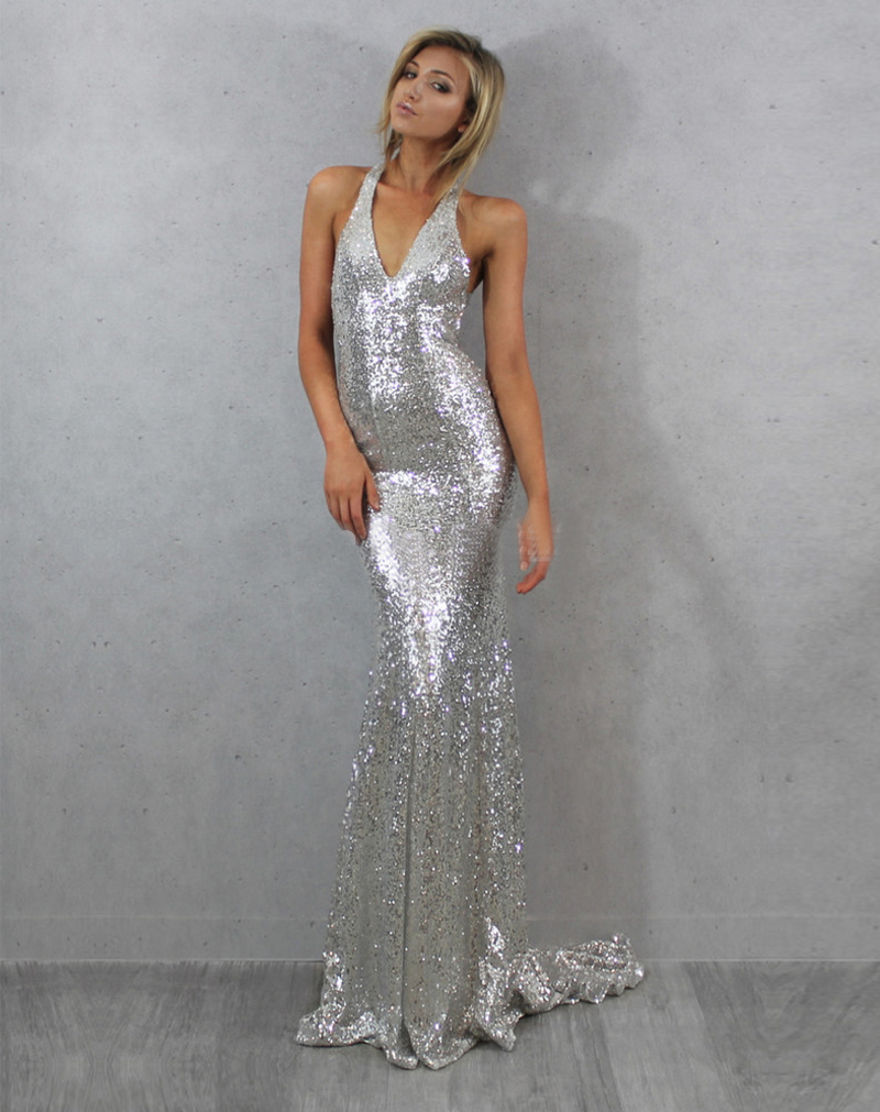 Popular 2015 Sexy Mermaid Silver Prom Dress with Long-Buy Cheap ...