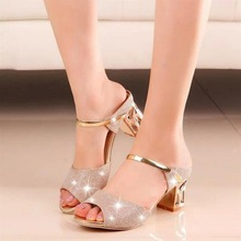 2019 Sexy Women Casual Square High Heeled Peep Toe Sandals Lady Soft Leather Platform Metal Gold Open Ankle Strap Female Sandal clear ankle strap peep toe heeled sandals