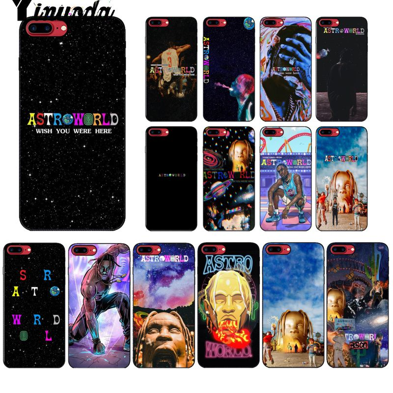 Yinuoda travis scott astroworld Pattern TPU Soft Phone Cell Phone Case for  Apple iPhone 8 7 6 6S Plus X XS MAX 5 5S SE XR Cover