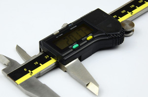 Image 3 - 150mm 200mm 300mm origem modo digital pinça de aço inoxidável eletrônico vernier caliper schieber caliper micrômetro + caixa