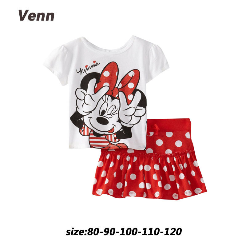 2934dff54 Girls minnie mouse short set children s summer clothes girl clothing ...