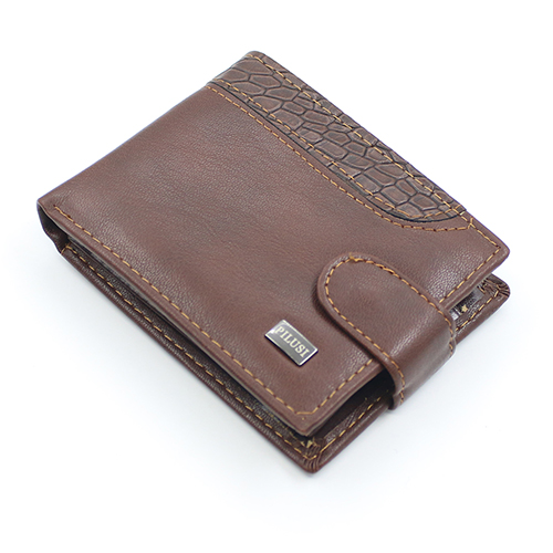 Men Bifold Faux Leather ID Card Holder Money
