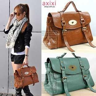 Las Buckle Strap Braid Inner Zip Handbag Shoulder Bag Women Briefcase Five Colors