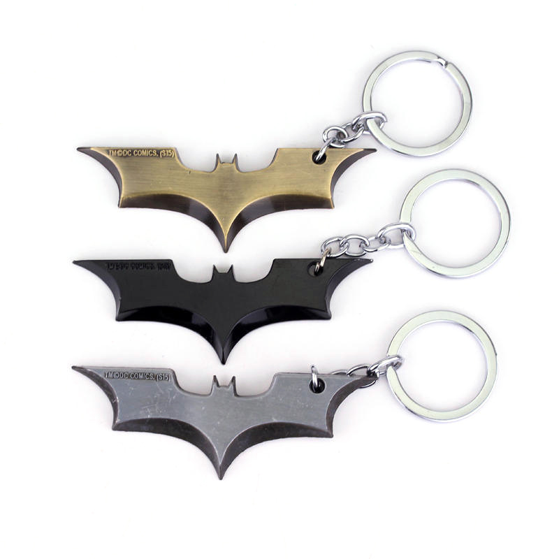 Dc Comic The Dark Knight Batman Keychains Justice League Batman Keyrings Pandents Cosplay Accessories Figure Toys Souvenirs Gift