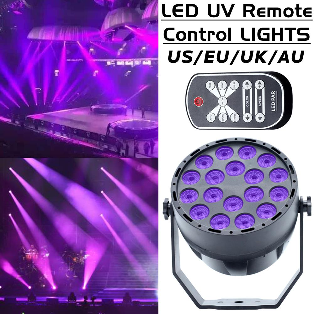 18W UV LED Stage Light Disco Light 18 LED Purple Disco Ball DMX 512 Stage Lighting Effect Lights Stage Lamp for Dj Bar Party KTV premium led stage lights 18w rgb led flat par light stage lamp dmx512 disco dj bar effect up lighting for dj disco party ktv