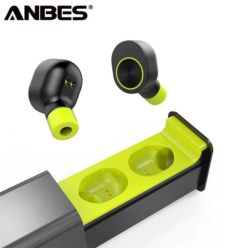 ANBES Mini Bluetooth Earphones Wireless Headphones Small Single Earbuds Earpiece Headset With Mic For All Phone Samsung