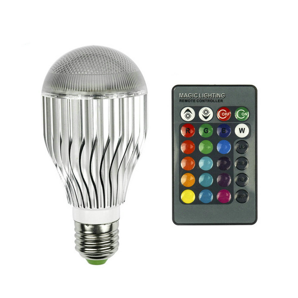 E27 RGB LED Lamp 20W 85-265V LED RGB Bulb Light 110V 120V 220V Led Soptlight Remote Control 16 Colors Changeable Lamparas 10w e27 led bulb lamp rgb stage light 12 colors led lights for home remote control brightness timing ac 85 265v rgb cool white