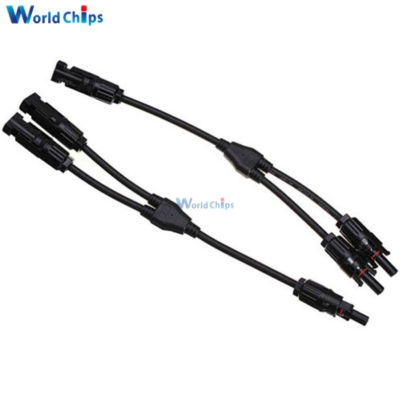 MC4 Solaire Câble Y Plug Distributeur Prise Panneau Photovoltaïque Câble 30A