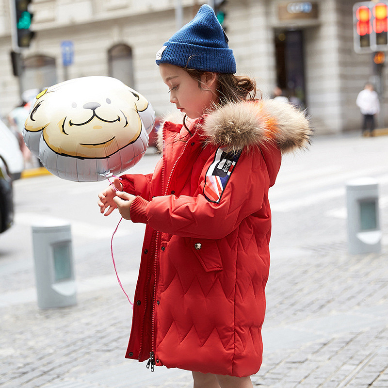 Winter Clothes For Girl Down Jacket 2018 Hooded Fur Collar Long Style Children Outerwear Thicken Warm Winter Coat Kids Clothes 2015 new hot winter thicken warm woman down jacket coat parkas outerwear hooded splice mid long plus size 3xxxl luxury cold
