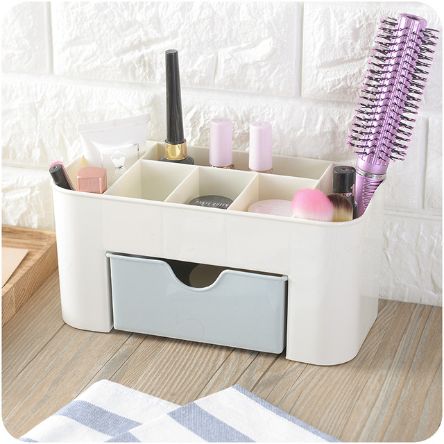 Cosmetic Jewelry Organizer Office Storage Drawer Desk Makeup Case