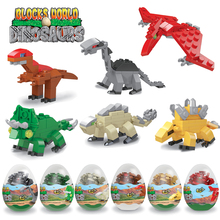 Jurassic World Dinosaur Blocks Játékok Gyerekek Raptor Triceratops Tyrannosaurus Velociraptor Állat Játék Kompatibilis Legoed Dinosaur