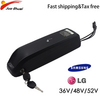 US EU No Tax E Bike Battery 36V/48V/52V Lithium ion Battery Electric Bike Battery Samsung LG MTB Road Bicycle Scooter 2Acharger