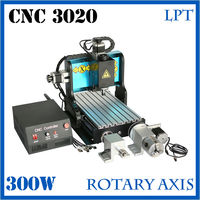 LPT Port Atc CNC Router 3020 4 Axis Cnc Wood Milling Machine With Air Cooling Spindle