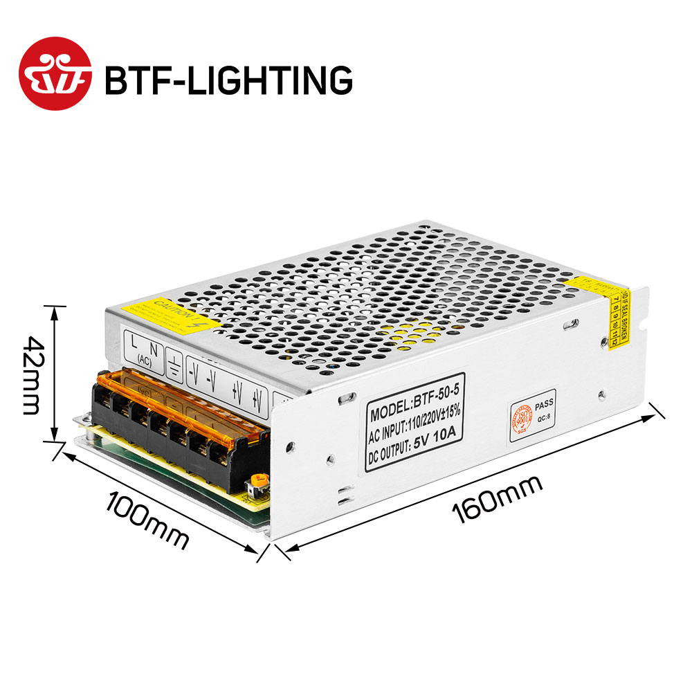 5V 2A/3A/4A/5A/8A/10A/12A/20A/30A/40A/60A Switch LED Power Supply Transformers WS2812B WS2801 SK6812 SK9822 APA102 LED Strip