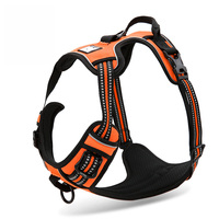 3M Reflective Dog Harness Nylon Dogs Training Harness With Soft Padded Outdoor Adventure Pet Vest For