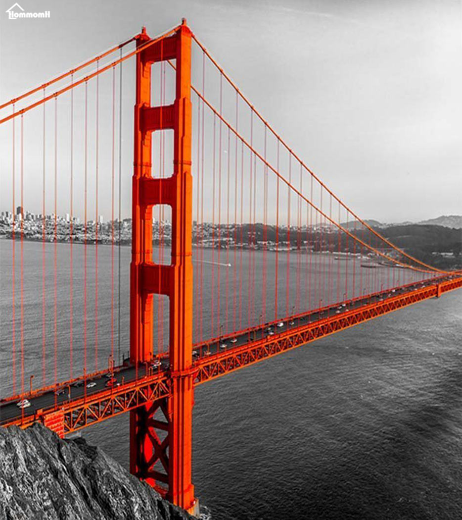 Decke Karierten Wrme Weichen Plsch Pflegeleicht Maschine Waschen Golden Gate Brcke Plaids Auf Dem Sofa Werfen