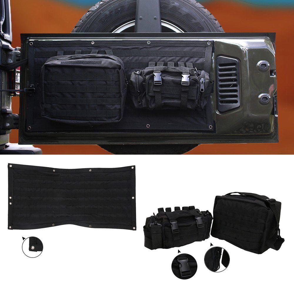 Chuang Qian Задняя Крышка багажника для хранения мульти-карманы набор инструментов грузовой мешок седельная сумка для Jeep Wrangler JK 2007-2017