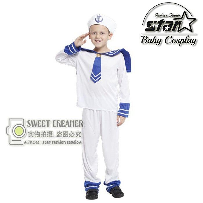 Children s Halloween Costumes font b Boys b font Kids Seaman Navy Sailor Costume Cosplay Fantasia