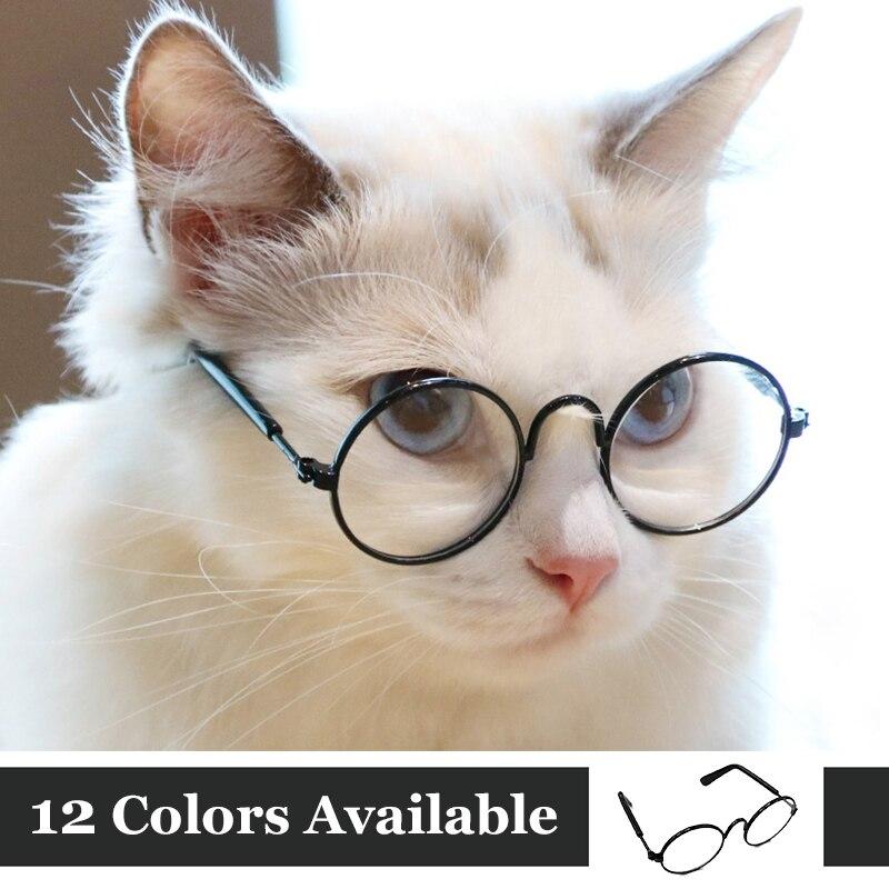 Забавные очки для глаз с кошачьими очками классные солнцезащитные очки для маленьких собак Хэллоуин косплей фото реквизит уход за домашними животными аксессуары Принадлежности купить на AliExpress