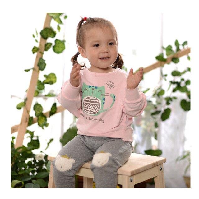 2016 Новая Мода футболка для девочек девочка с длинными рукавами футболки мальчик рубашки одежда для девочек детские футболки для девочек