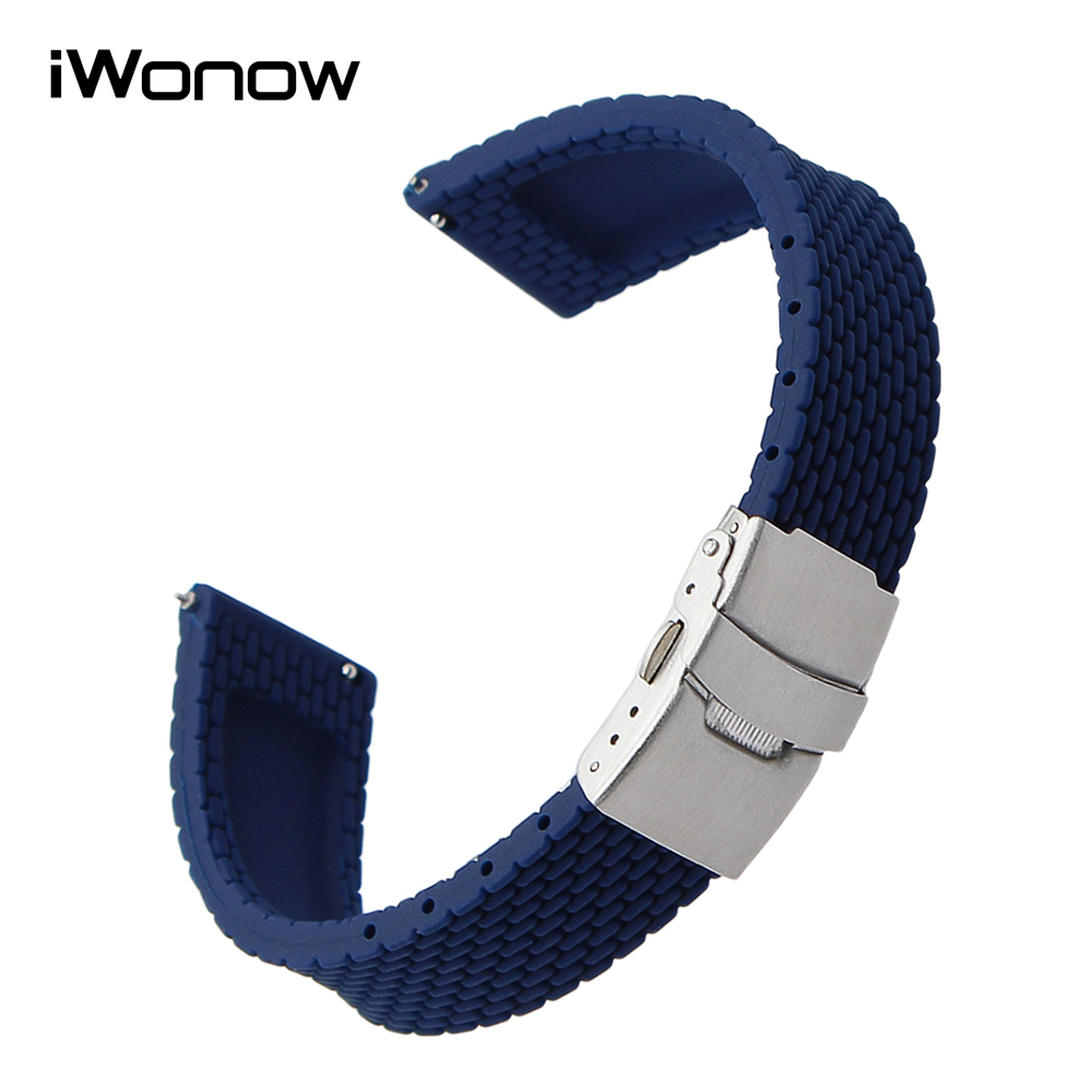 22mm Quick Release Silicone Rubber Watchband for Samsung Gear S3 Classic Frontier Gear 2 Neo Live Smart Watch Band Wrist Strap france genuine leather watchband for samsung gear s3 classic frontier r760 770 double color watch band quick release wrist strap