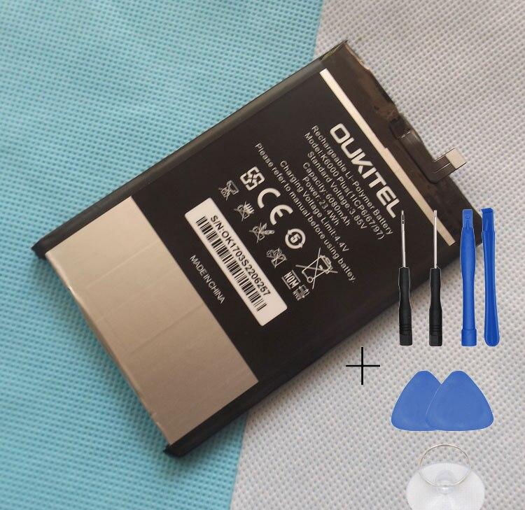 100% D'origine 6080 mAh Oukitel K6000 plus la batterie pour Oukitel K6000 plus Smartphone