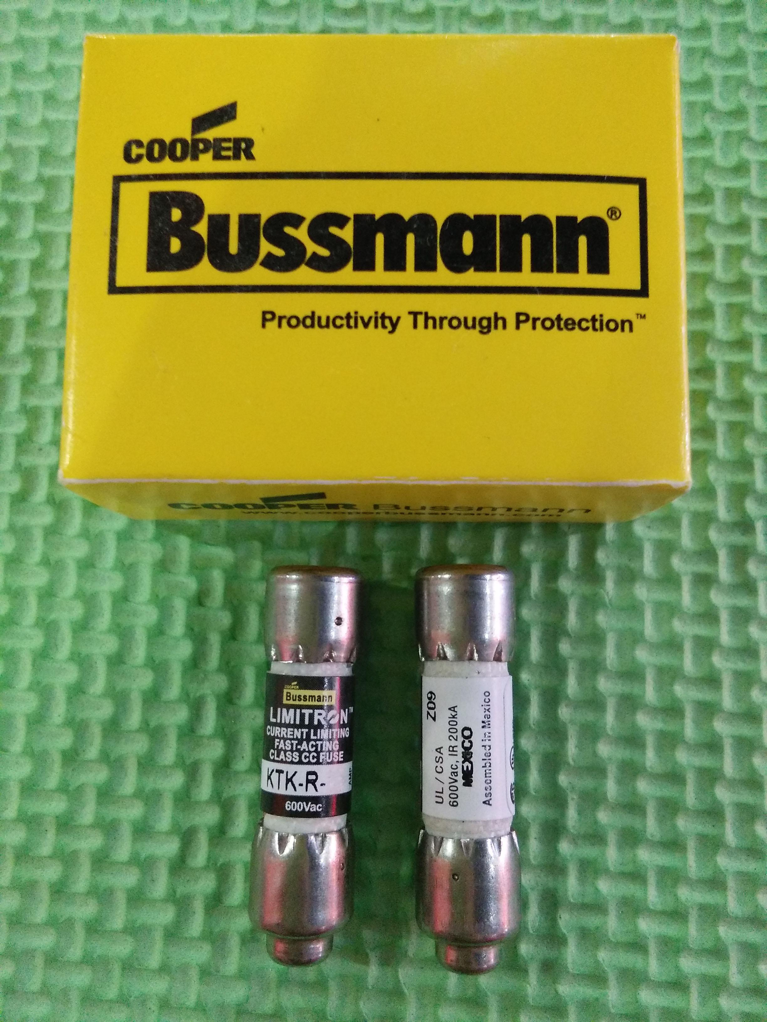 10pcs Bussmann KTK-R-30 30 Amp 600V Fast-Acting Fuses KTK-R-30