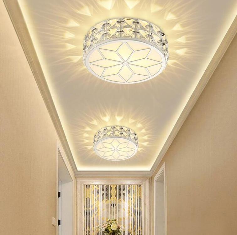 Modern Simple Led Crystal ceiling light Room light Corridor Balcony Passing lamp Corridor light Home lamp ceiling light Square стоимость