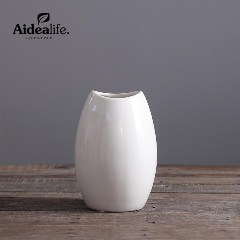 jarrones blancos modernos abstractos de cermica jarrones de arte para centros de mesa para bodas decoracin del hogar accesorio