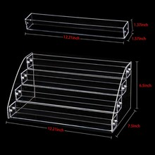 New Acrylic 7-2 Tiers Organizer Lipstick Jewelry Display Holder Nail Polish Rack(China)